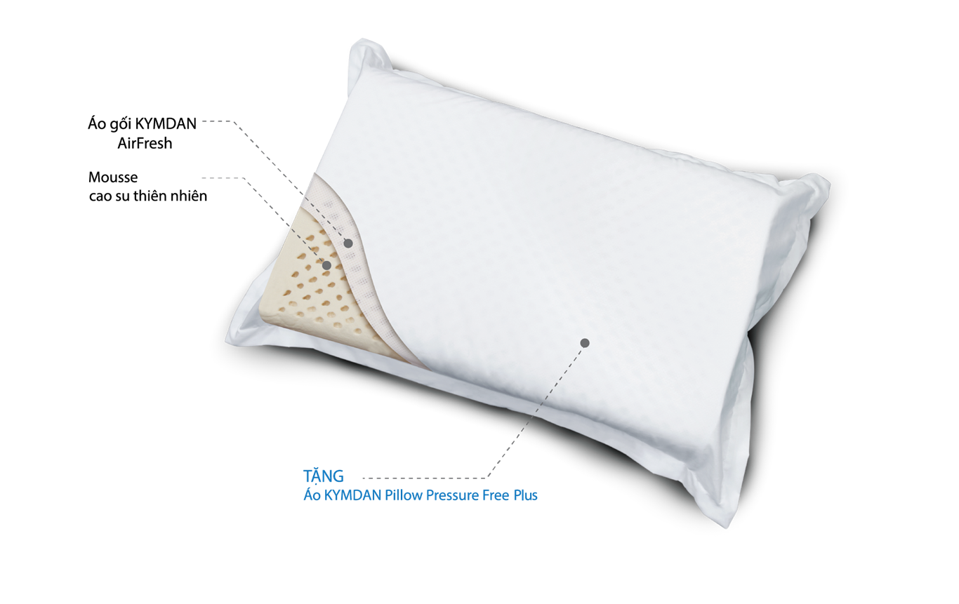 Gối KYMDAN Pillow PressureFree Plus