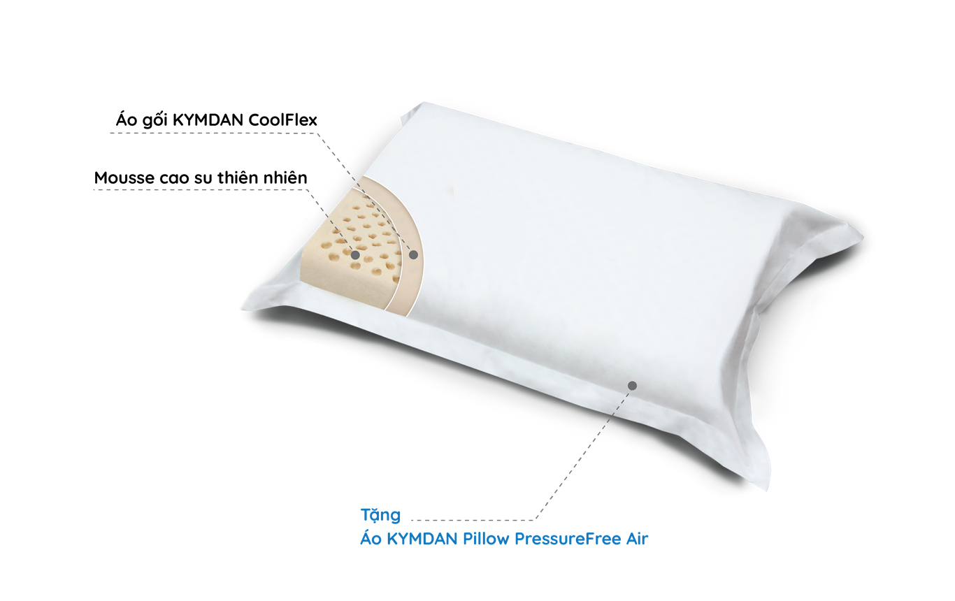 Gối KYMDAN Pillow PressureFree Air